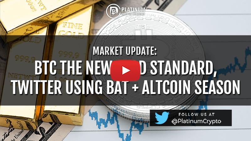 Market update – BTC The New Gold Standard,Twitter using BAT + Altcoin Season