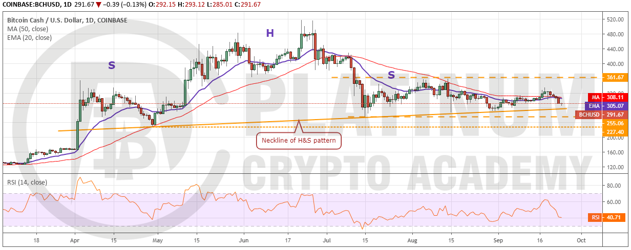 crypto market analysis - BCH/USD